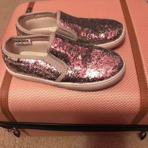 Silver sparkle Carters sneakers.